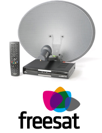 freesat satellite dish and receiver